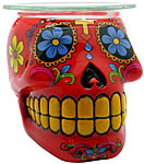 Aroma Lamp: Sugar Skull, Red (NEW)