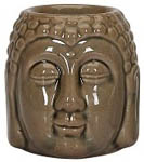 Aroma Lamp: Ceramic Buddha Head, mixed colors