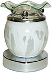 Electric Aroma Lamp: Marbled Globe, White