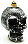 Backflow Cone Burner: Mini Silver Skull