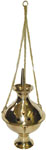 "Brass Hanging Censer Burner, 11"" tall with chain"