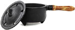Cast Iron Cauldron with handle, 1.5 inch