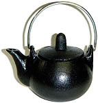 Cast Iron Teapot, plain, 2.5 inches tall