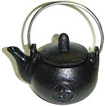 Cast Iron Teapot, pentagram, 2.5 inches tall