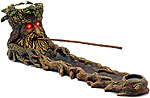 Incense Burner: Green Man with LED Eyes