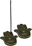 (SET OF 2) Incense Burner: Flat Hamsa Hand