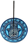 Incense Burner: Hamsa Lotus Mandala, Round (NEW)