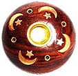 Wooden Celestial Incense Burner