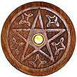 Wooden Pentacle Incense Burner