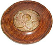Wood and Soapstone Tray Incense Burner