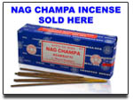 Glossy Sign for Nag Champa Incense