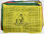 Buddha Medicine Prayer Flag, 7x9 inches