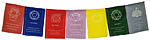 (Set of 5) Seven Chakra Prayer Flags, 9x6 inch