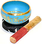 SEA BLUE Tibetan Singing Bowl, 4 inch wide
