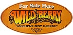 "Round Window Sign: ""WildBerry For Sale Here"""