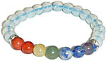Bracelet: Seven Chakra Gems with Opalite (NEW)