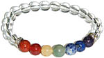 Bracelet: Seven Chakra Gems with Quartz (NEW)