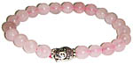 Bracelet: Rose Quartz with Buddha