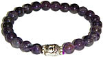 Bracelet: Amethyst with Buddha (NEW)