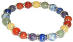 Bracelet: All Seven Chakra Beads (NEW)
