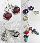 Wholesale Lot of 3 Assorted Earring Sets, Sterling Silver Plated