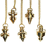 (Set of 12) Metal Pendulums, assorted shapes (NEW)
