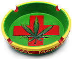 Ashtray: Medical Marijuana, 6 inch