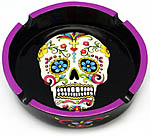 Ashtray: White Sugar Skull, 6 inch