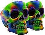 [SET OF 2] Ashtray: Tie Dye Skull, 4 inch
