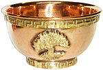 Copper Offering Bowl: Tree Of Life (NEW)
