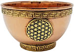 Copper Offering Bowl: Flower of Life (NEW)