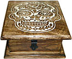 Wood Box: Skull Chest, 6x6 inch