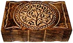 Wood Box: Tree of Life 9x6 inch
