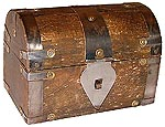 Wood Box: Small Treasure Chest, 5.25 in wide