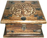 Wood Box: Tree of Life Chest, 6x6 inch