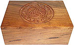 Wood Box: Charmed carving, 4x6 inch