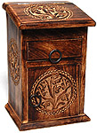 Tall Tree of Life Herb Chest with drawer