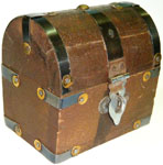 Wood Box: Tiny Treasure Chest, 3 in tall