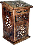 Tall Triquetra Herb Chest with drawer