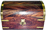 Wood Box: Large Treasure Chest, 4x6 inch