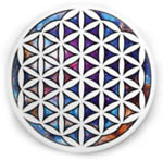 Button: Flower of Life, 1.25 inch