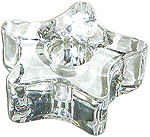 Chime Candle Holder - Glass Star, Clear