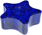 Chime Candle Holder - Glass Star, Blue