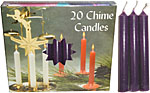 Chime Spell Candles: Dark Purple [Box of 20]