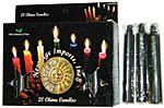 New Age Candles: Black [Box of 20]