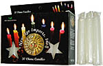 New Age Candles: White [Box of 20]