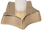 Holder for Chime Candle - Brass Star (NEW)