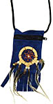 Pouch with Dreamcatcher, Blue