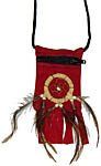 Pouch with Dreamcatcher, Red