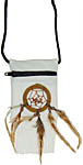 Pouch with Dreamcatcher, White